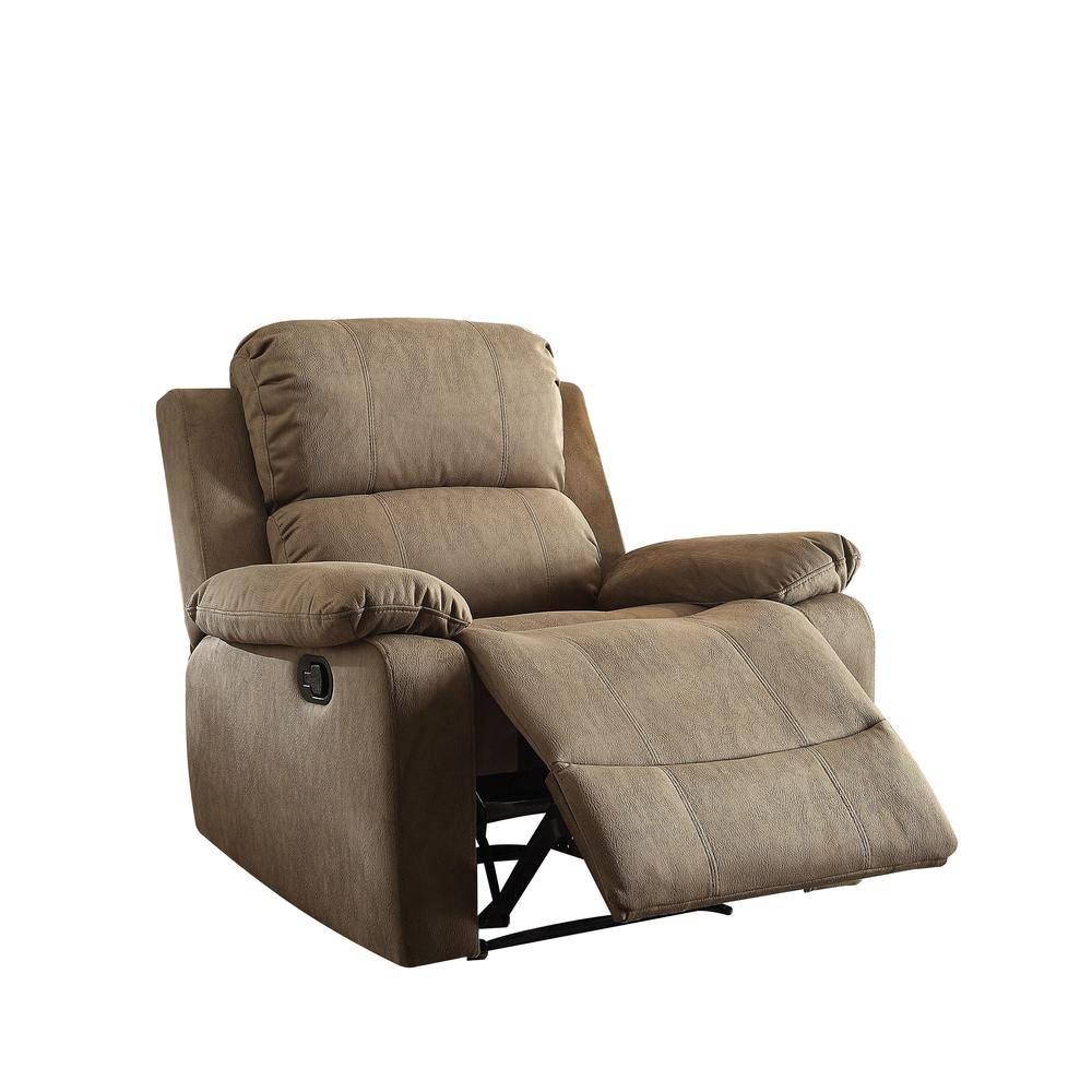 Bina Recliner, Taupe Polished Microfiber. Picture 1
