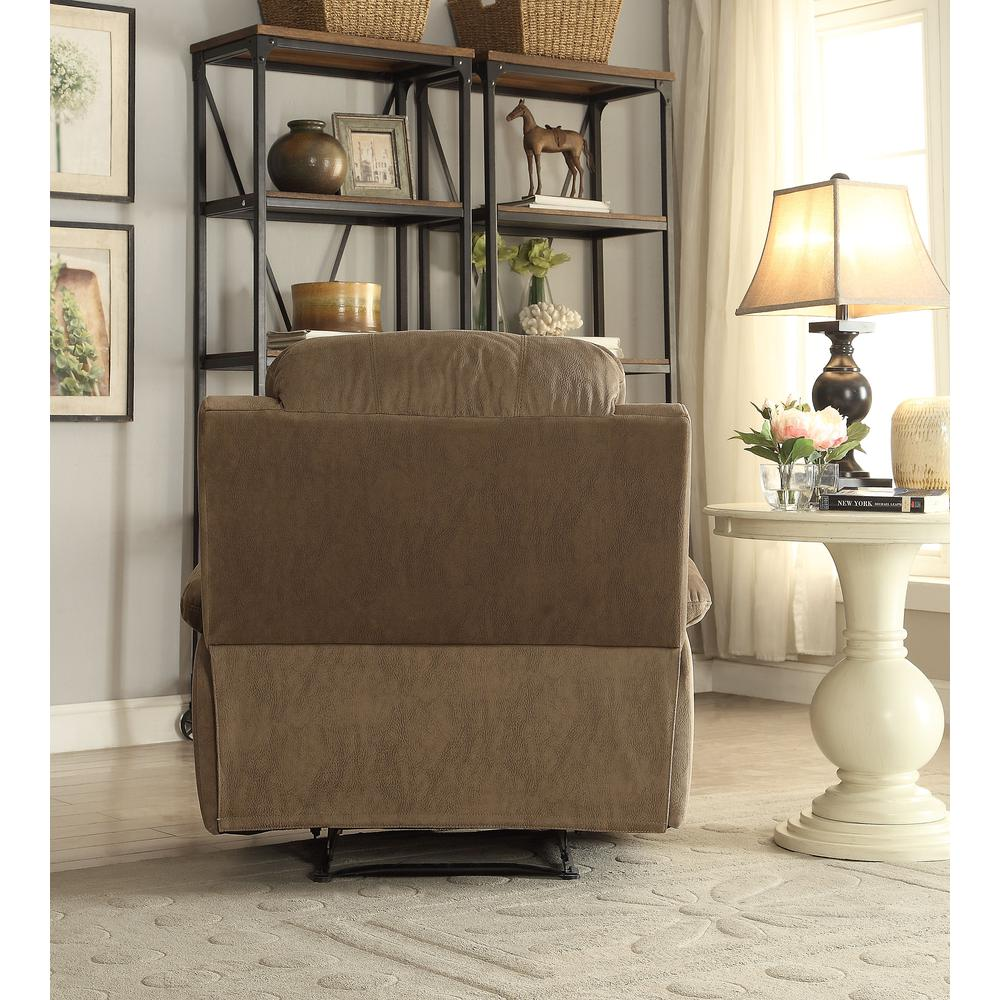 Bina Recliner, Taupe Polished Microfiber. Picture 3