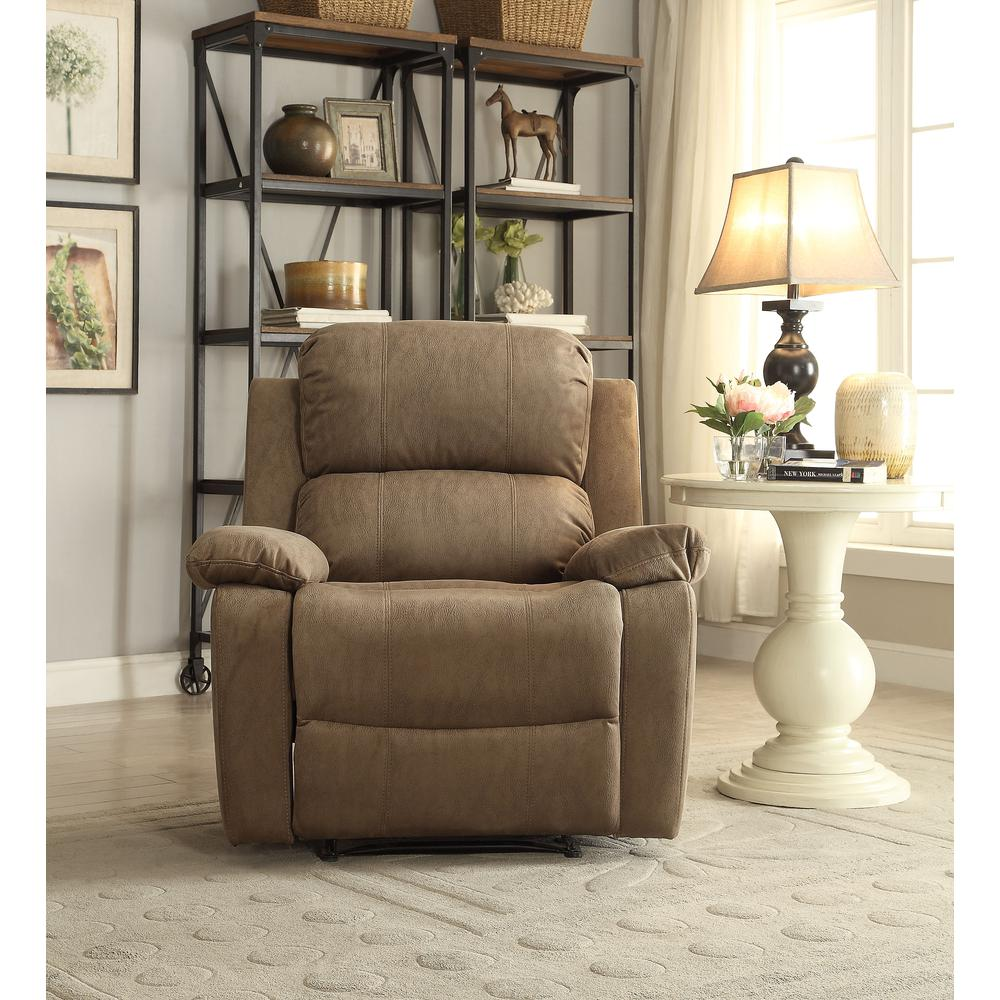 Bina Recliner, Taupe Polished Microfiber. Picture 4