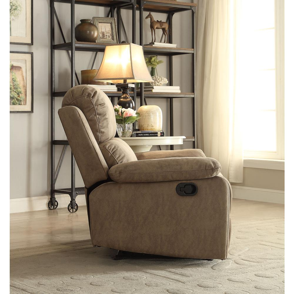 Bina Recliner, Taupe Polished Microfiber. Picture 5