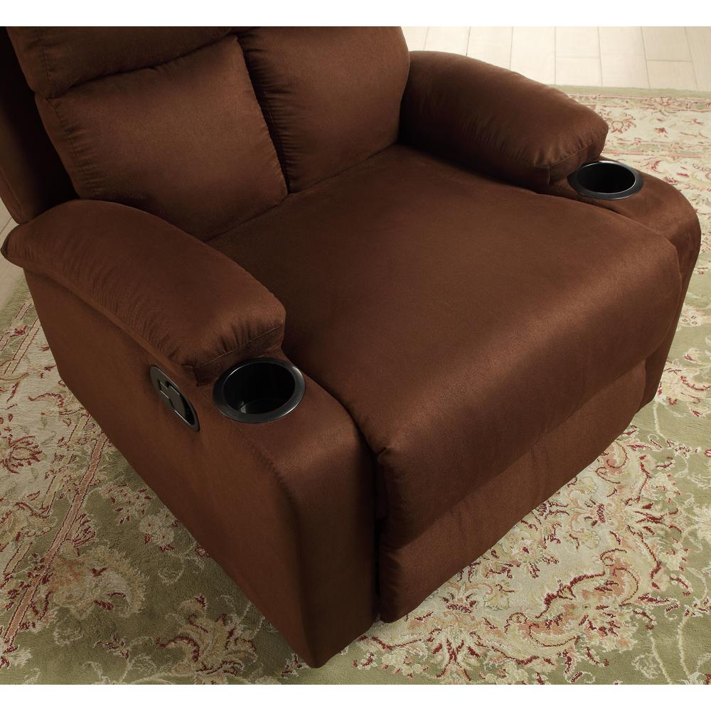 Rosia Recliner, Chocolate Microfiber. Picture 2