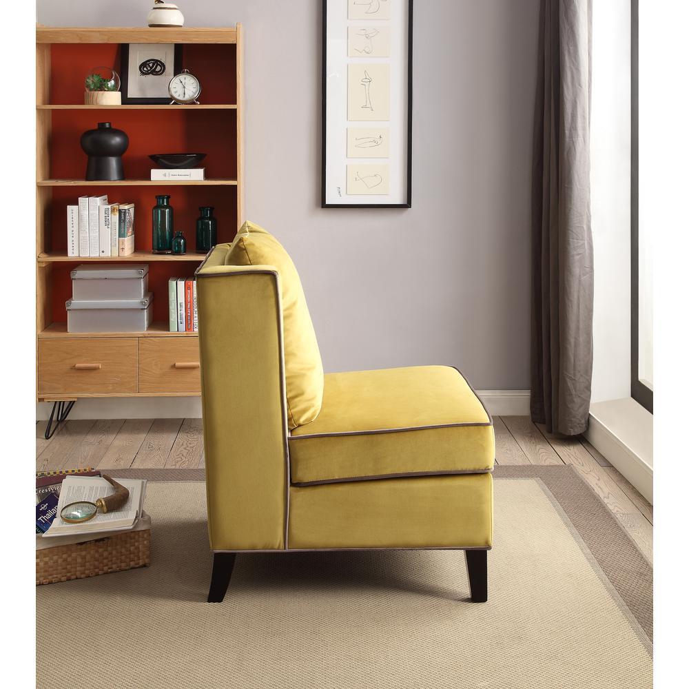 Ozella Accent Chair, Black Velvet. Picture 2