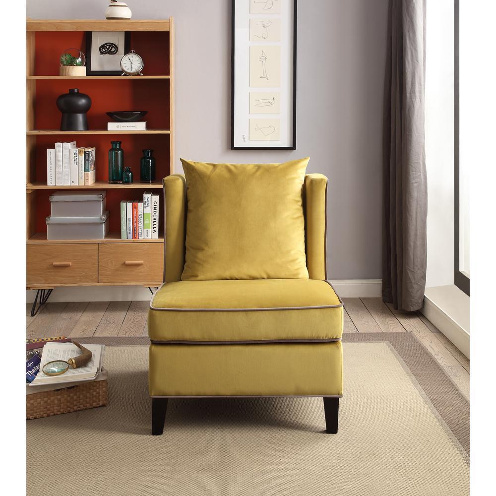 Ozella Accent Chair, Black Velvet. Picture 4