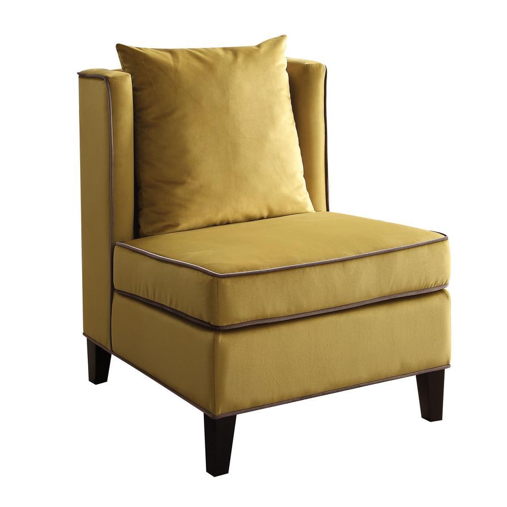Ozella Accent Chair, Black Velvet. Picture 5
