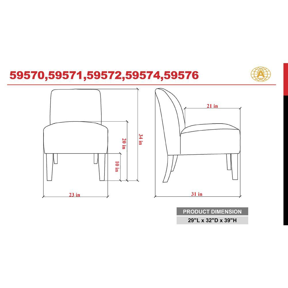 Ozella Accent Chair, Black Velvet. Picture 1