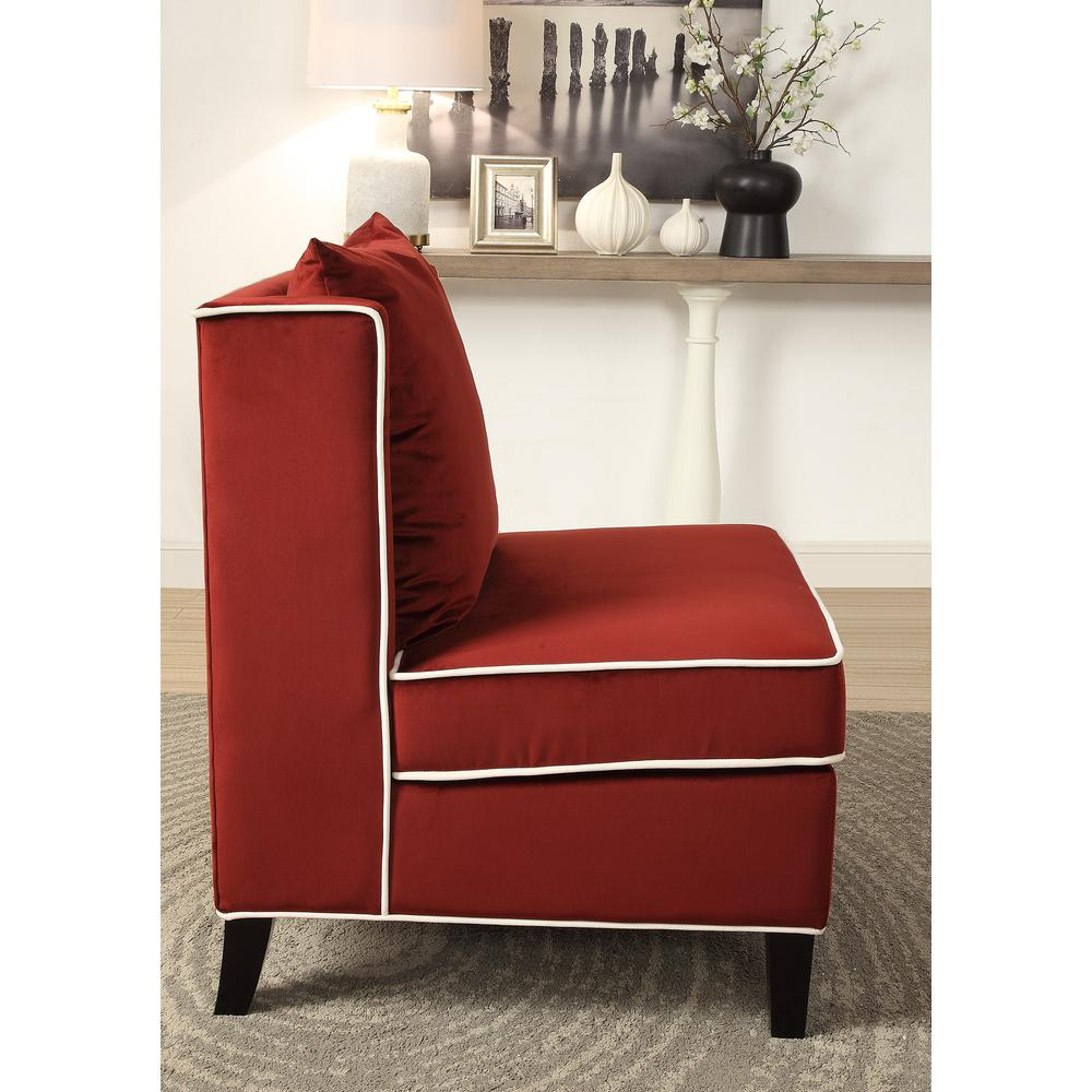 Ozella Accent Chair, Black Velvet. Picture 6