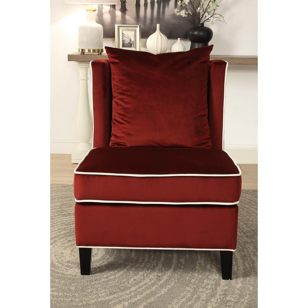 Ozella Accent Chair, Black Velvet. Picture 8