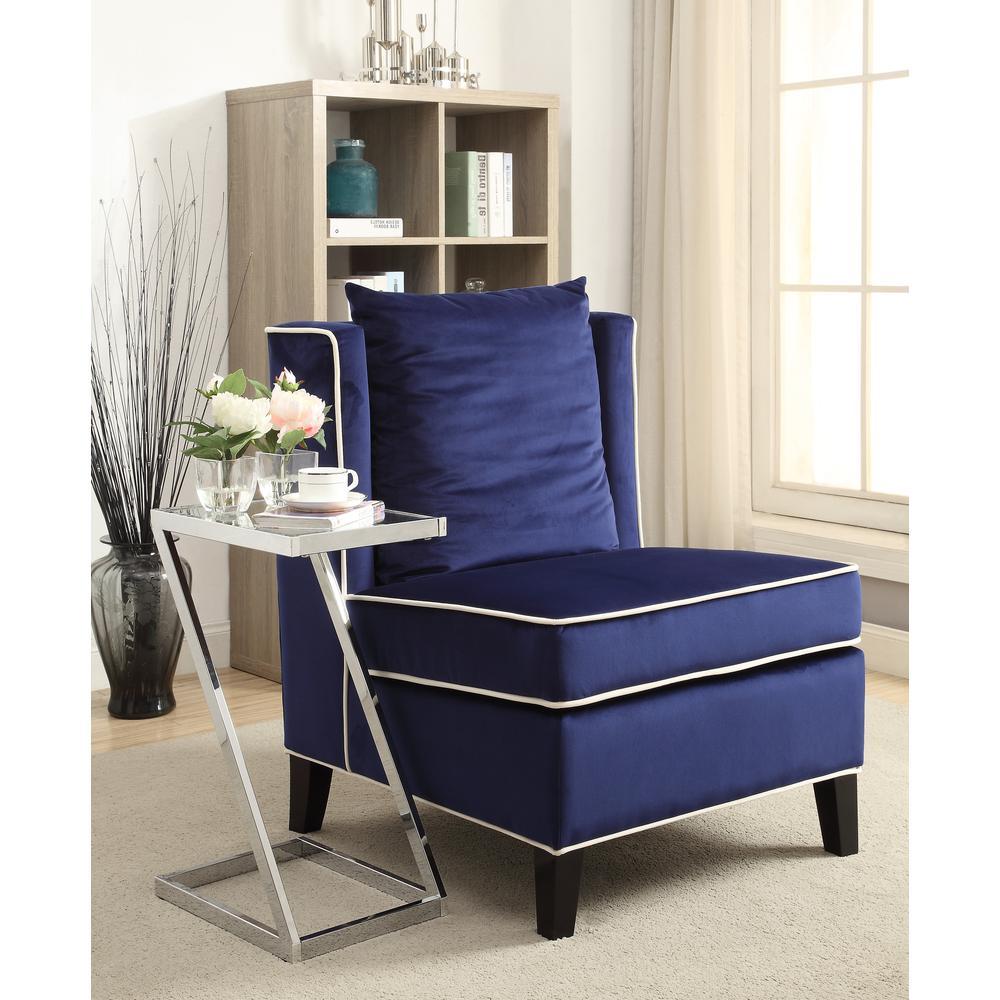 Ozella Accent Chair, Black Velvet. Picture 13