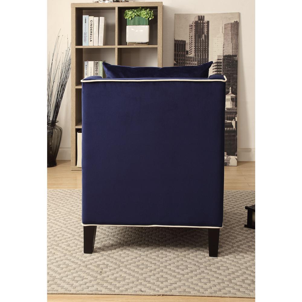 Ozella Accent Chair, Black Velvet. Picture 14