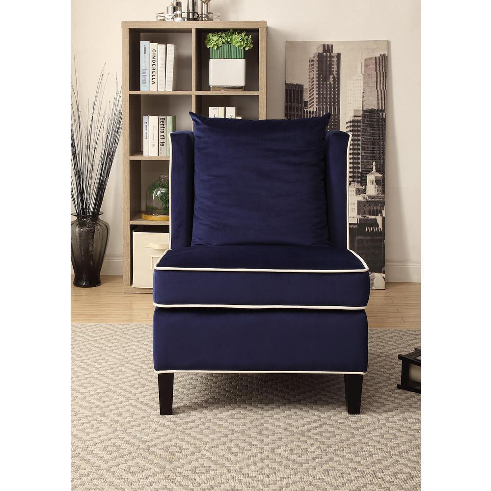 Ozella Accent Chair, Black Velvet. Picture 15