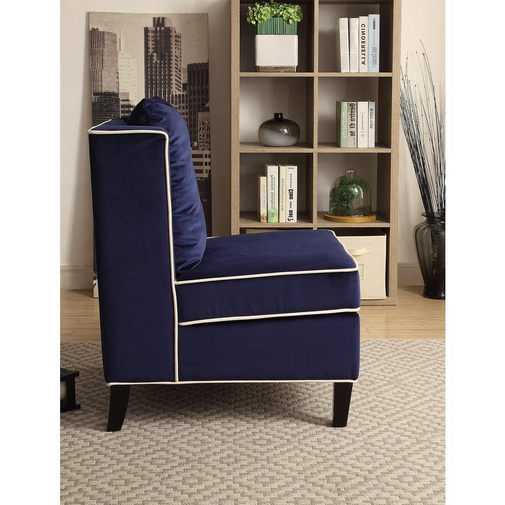 Ozella Accent Chair, Black Velvet. Picture 17