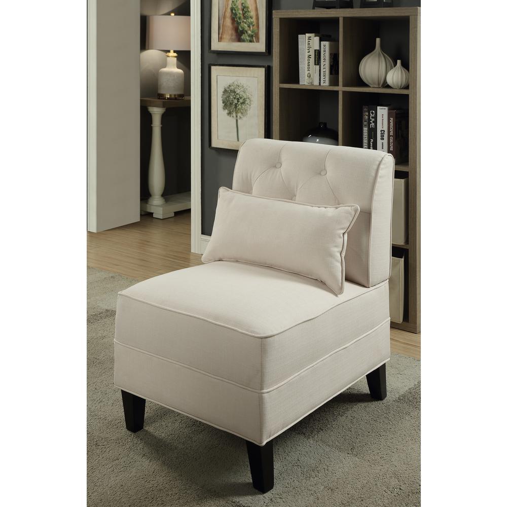 Susanna Accent Chair & Pillow, Blue Linen. Picture 8