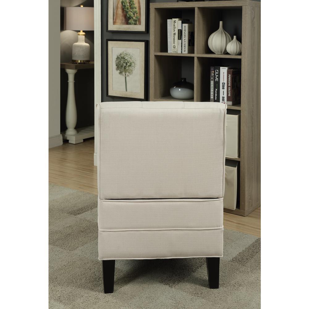 Susanna Accent Chair & Pillow, Blue Linen. Picture 9