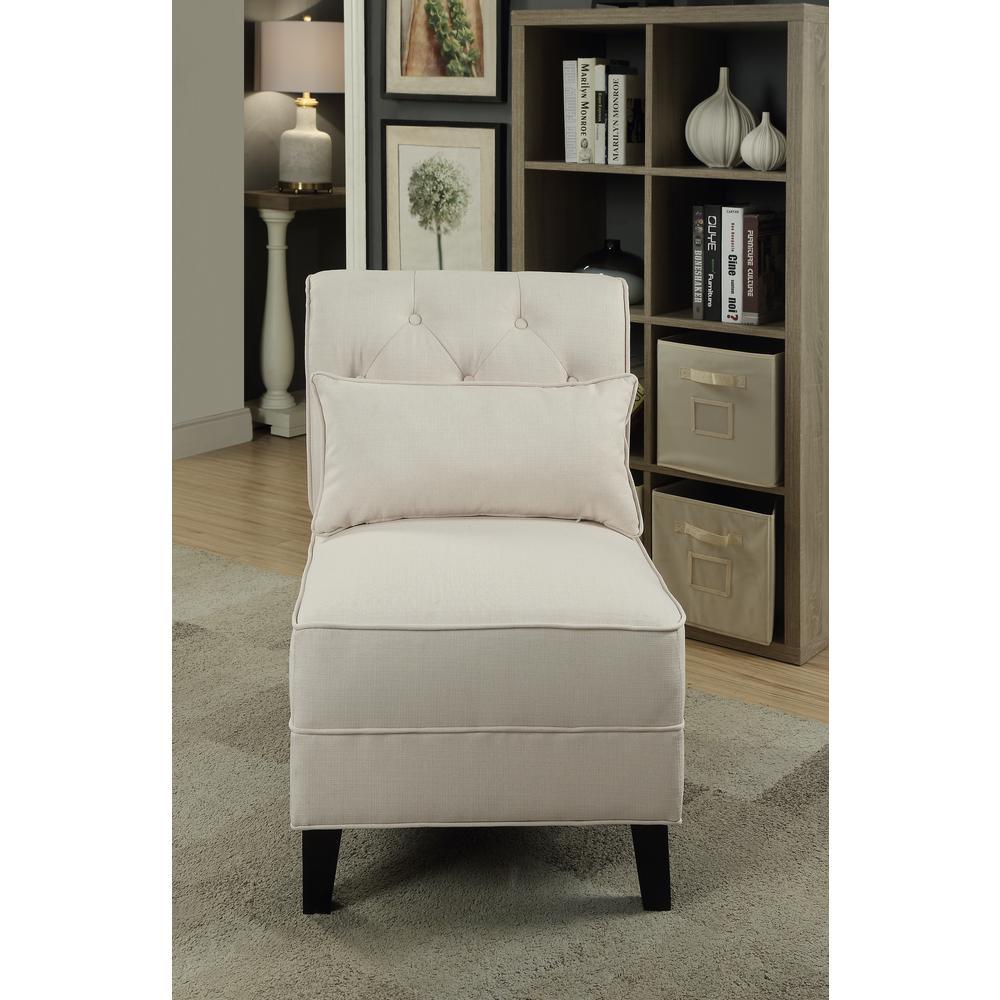 Susanna Accent Chair & Pillow, Blue Linen. Picture 10