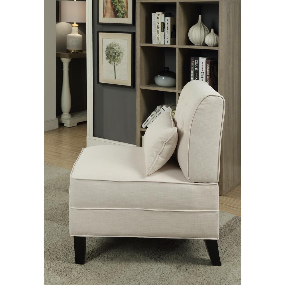 Susanna Accent Chair & Pillow, Blue Linen. Picture 11