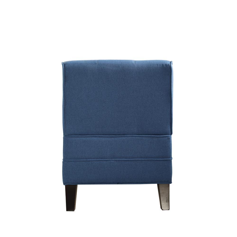 Susanna Accent Chair & Pillow, Blue Linen. Picture 18