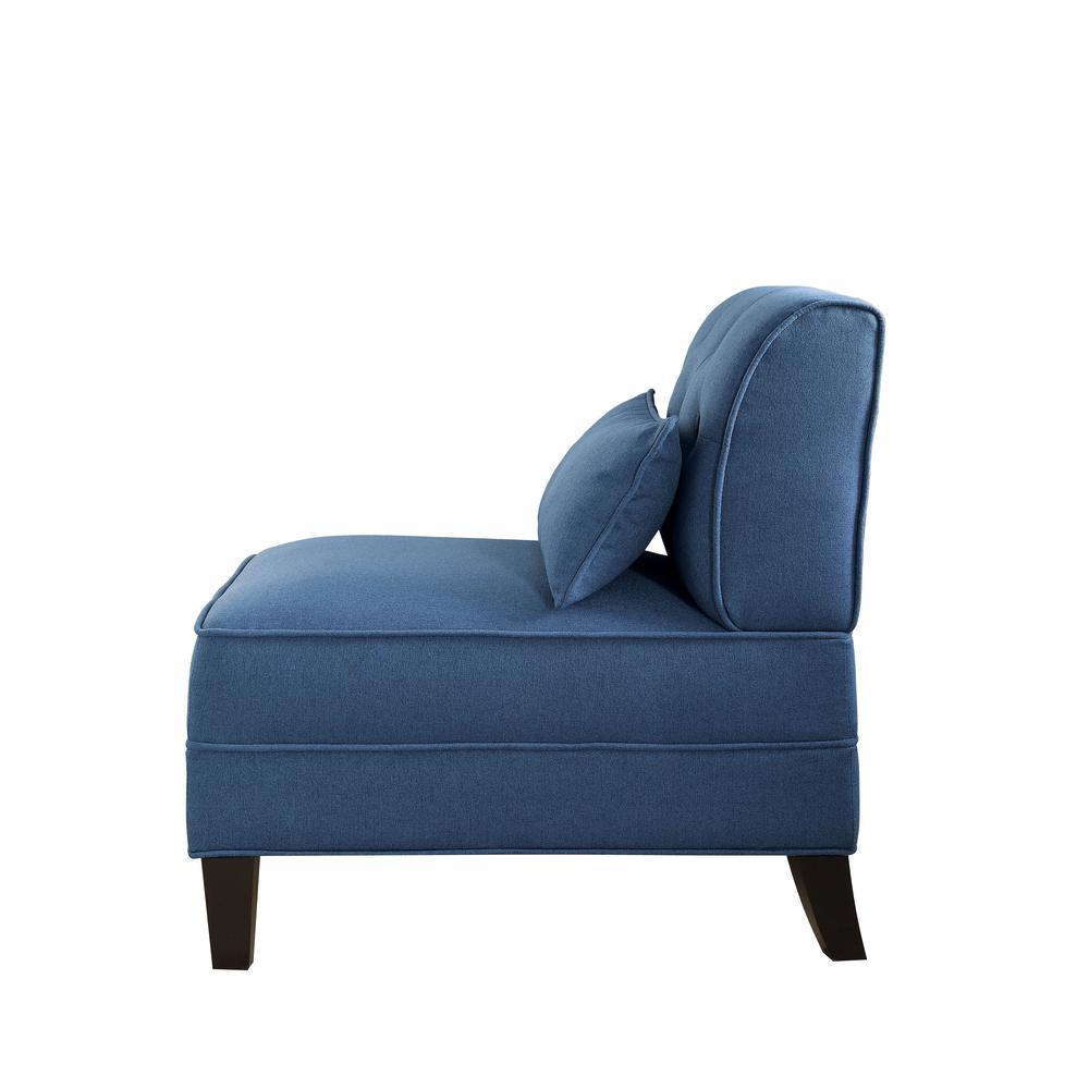 Susanna Accent Chair & Pillow, Blue Linen. Picture 20