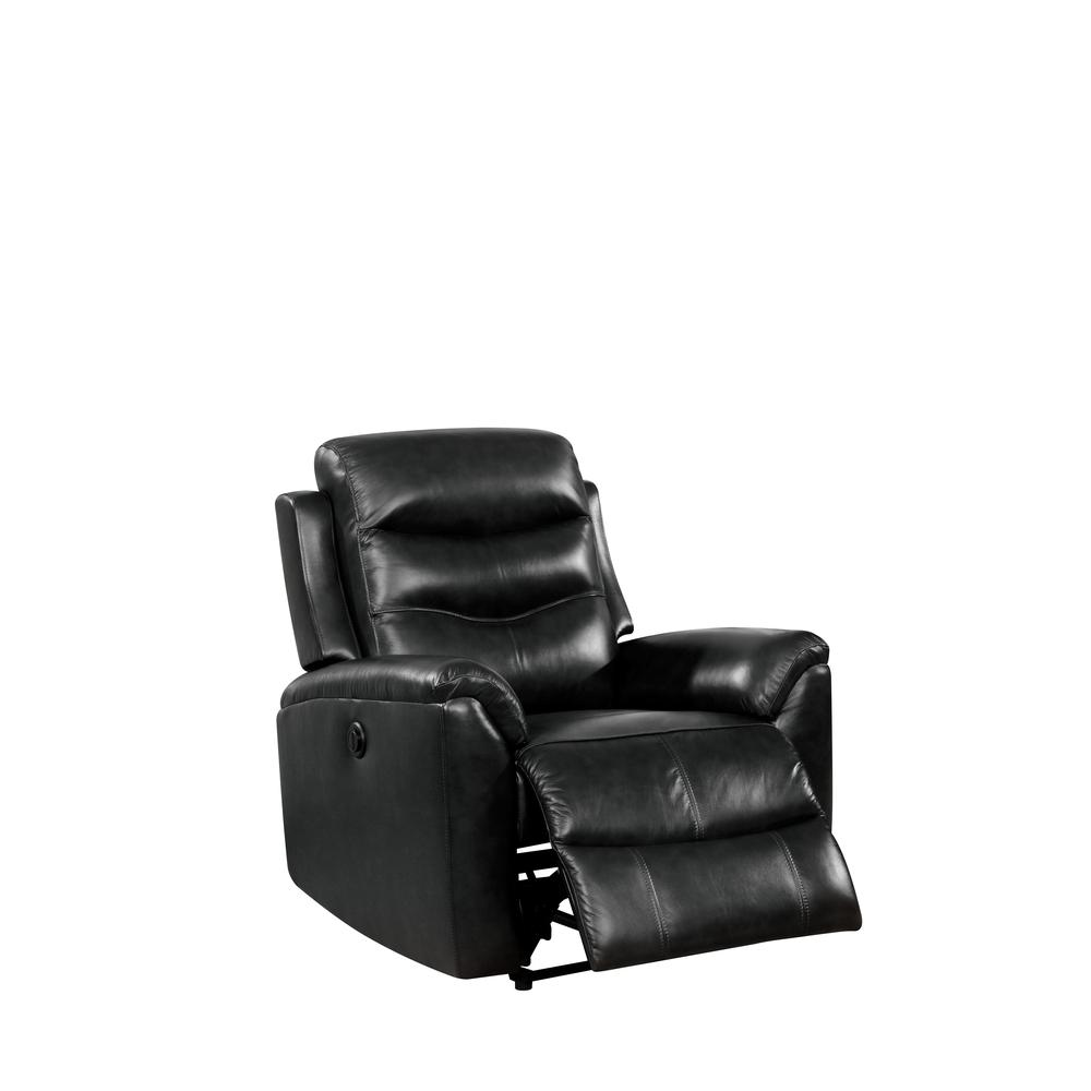Ava Recliner (Power Motion), Black Top Grain Leather. Picture 1