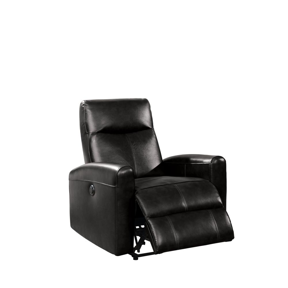 Blane Recliner (Power Motion), Black Top Grain Leather. Picture 1