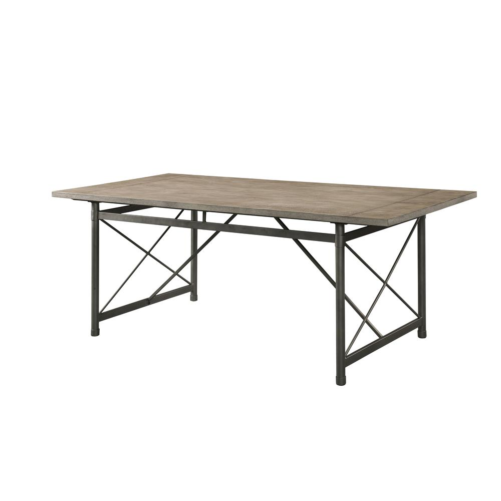 Kaelyn II Dining Table, Gray Oak & Sandy Gray. Picture 2