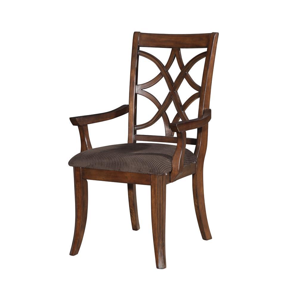 Keenan Side Chair (Set-2), Dark Walnut & Brown MFB. Picture 2