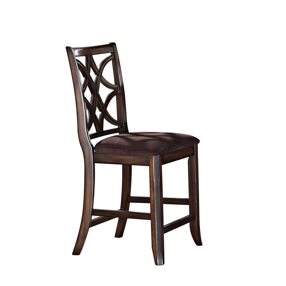 Keenan Side Chair (Set-2), Dark Walnut & Brown MFB. Picture 3