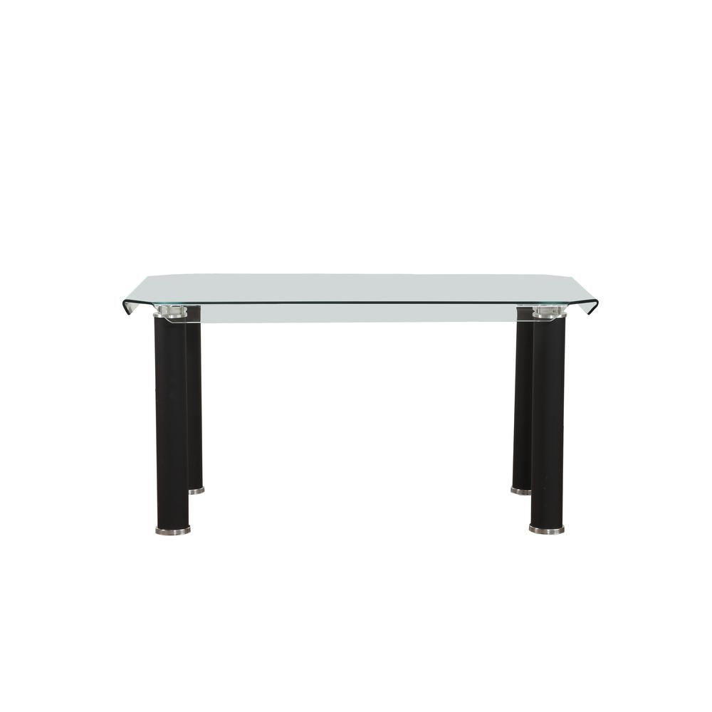 Gordie Dining Table, Black & Clear Glass (1Set/2Ctn). Picture 2