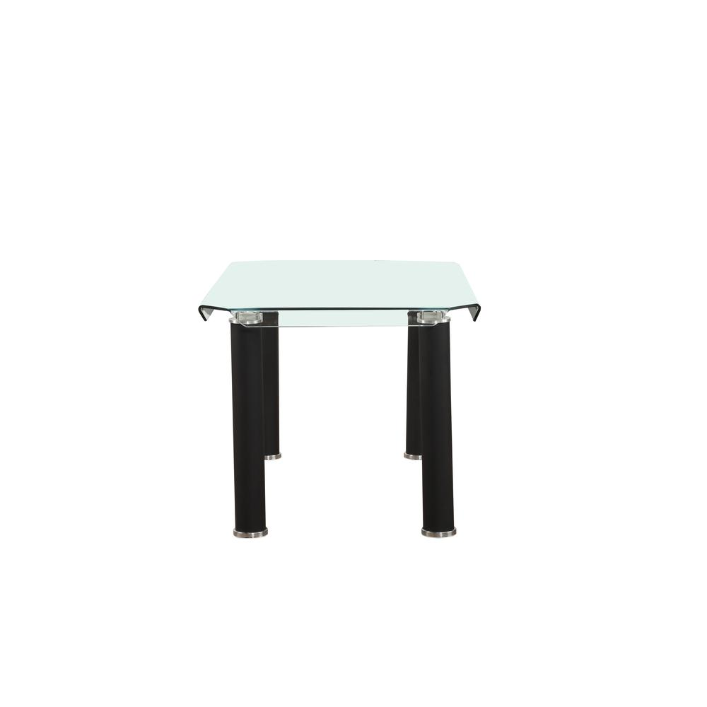 Gordie Dining Table, Black & Clear Glass (1Set/2Ctn). Picture 3
