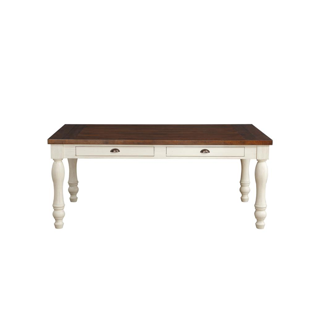Britta Dining Table, Walnut & White Washed. Picture 3