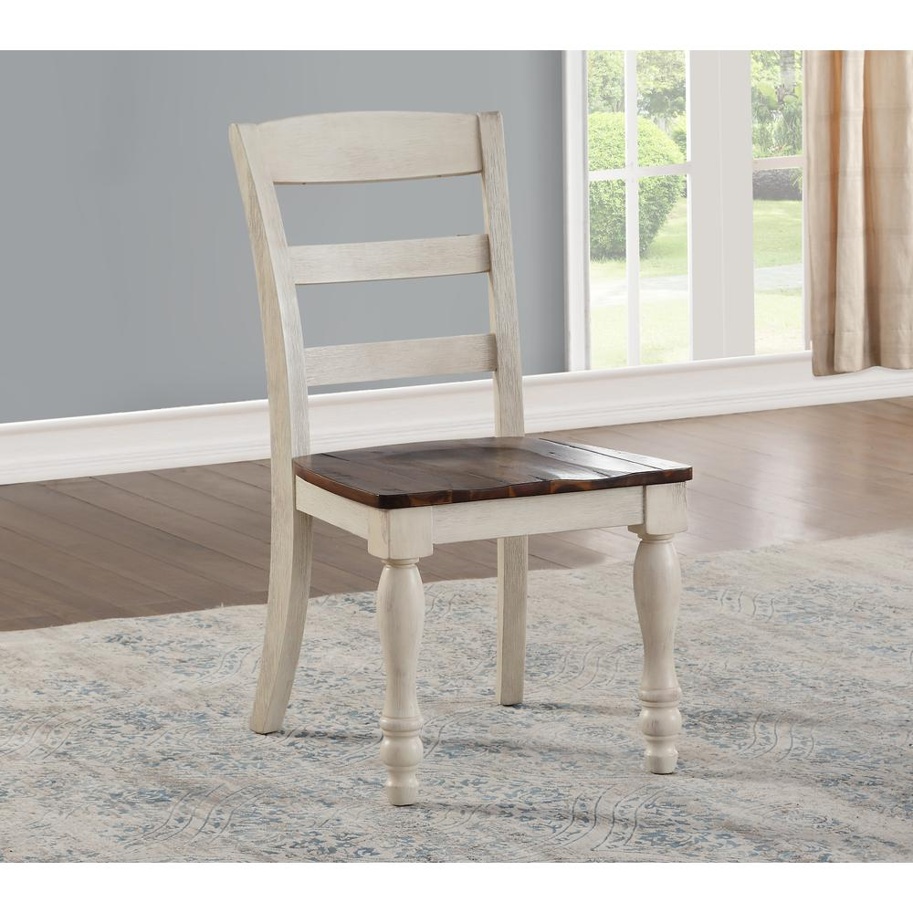 Britta Dining Table, Walnut & White Washed. Picture 6