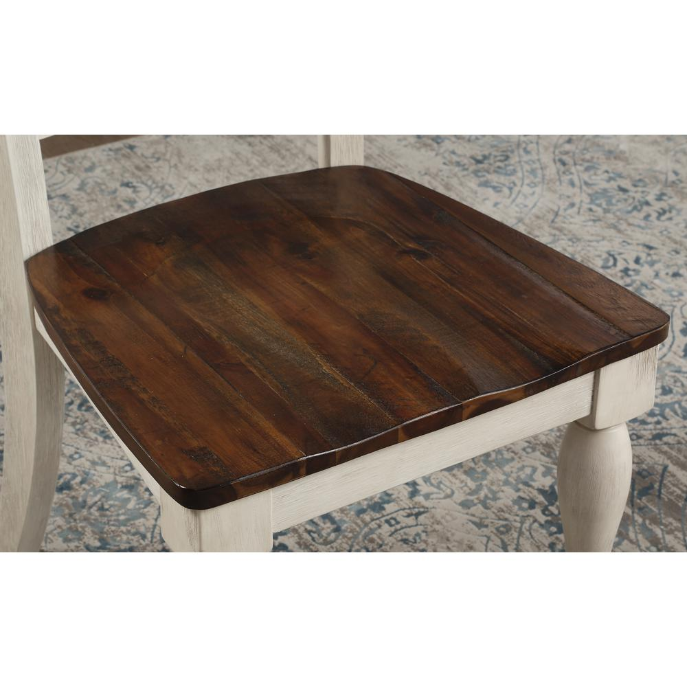 Britta Dining Table, Walnut & White Washed. Picture 11