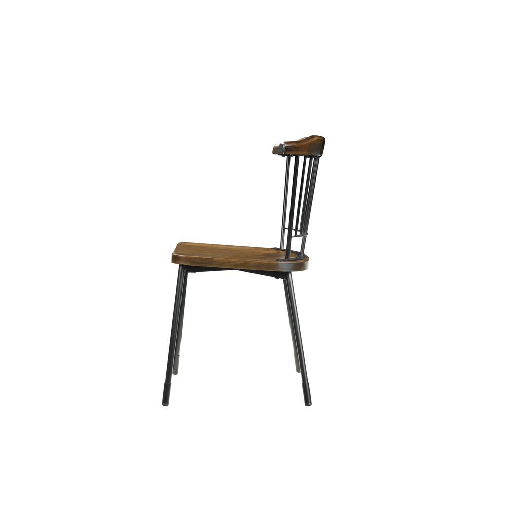 Orien Side Chair (Set-2), Teal & Brown Oak. Picture 5