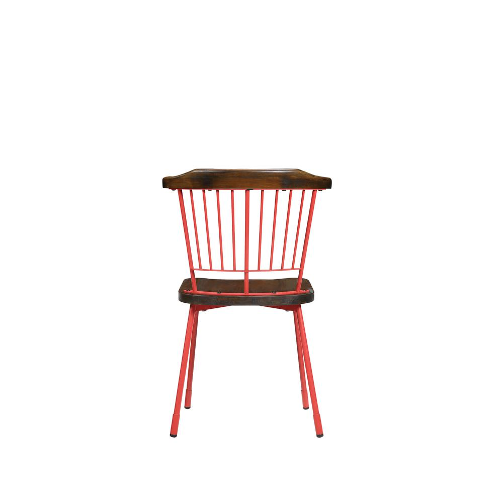 Orien Side Chair (Set-2), Red & Brown Oak. Picture 2