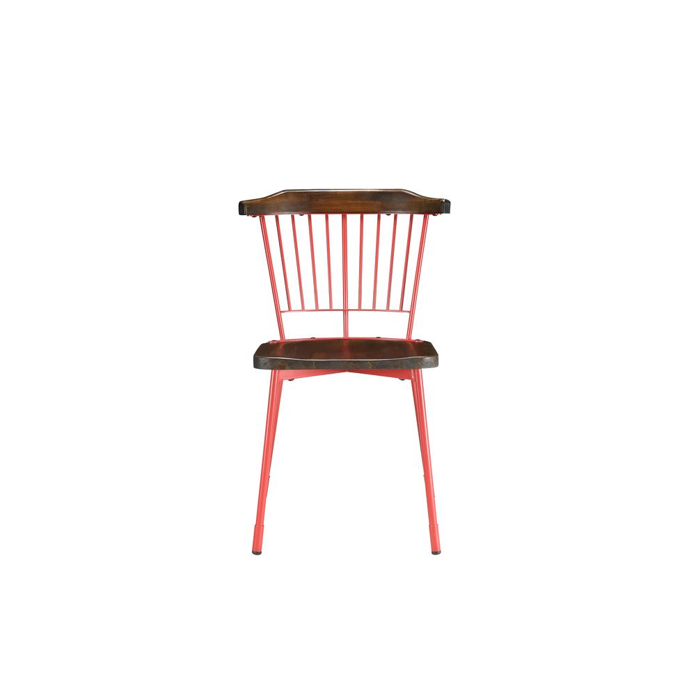 Orien Side Chair (Set-2), Red & Brown Oak. Picture 4