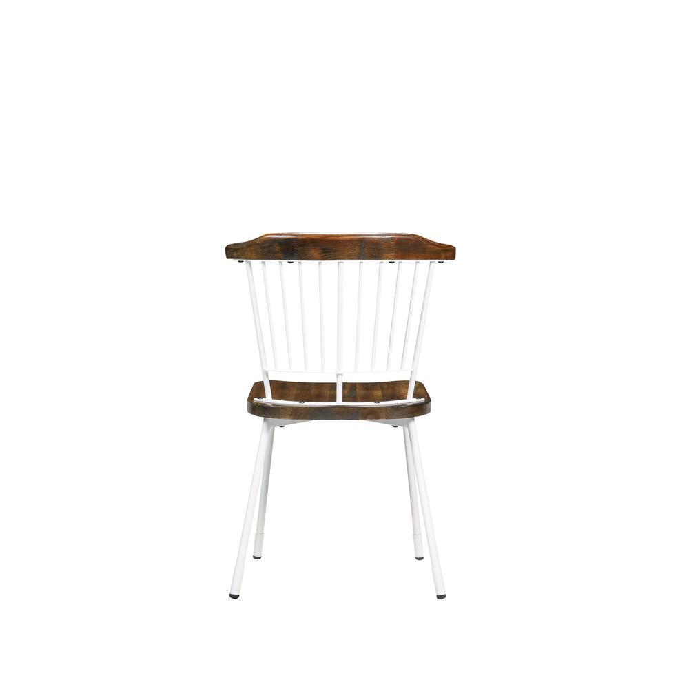 Orien Side Chair (Set-2), White & Brown Oak. Picture 2