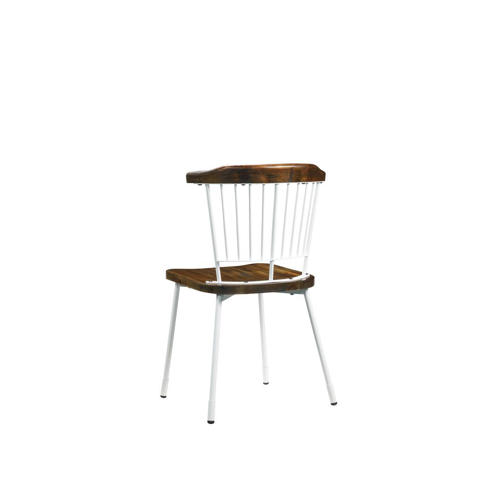 Orien Side Chair (Set-2), White & Brown Oak. Picture 3