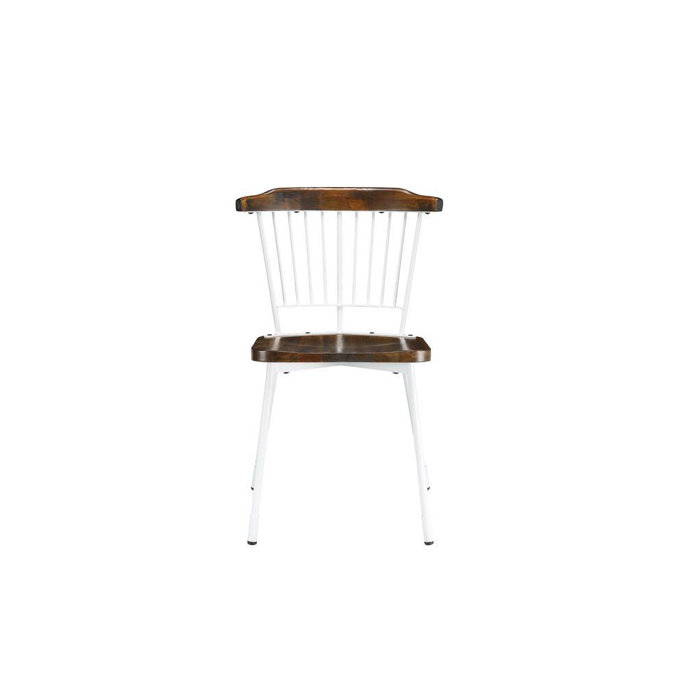 Orien Side Chair (Set-2), White & Brown Oak. Picture 4