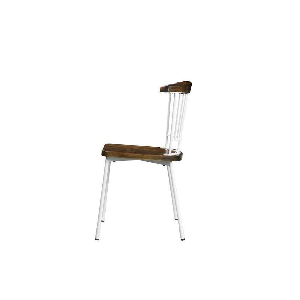 Orien Side Chair (Set-2), White & Brown Oak. Picture 5