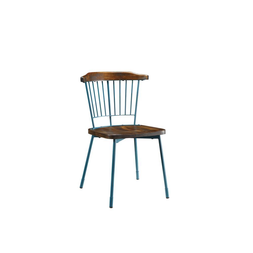 Orien Side Chair (Set-2), Teal & Brown Oak. Picture 16