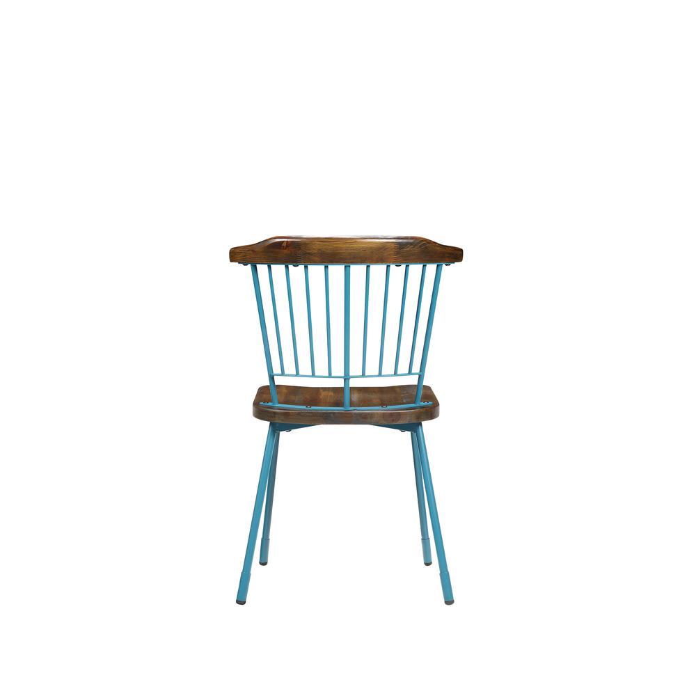 Orien Side Chair (Set-2), Teal & Brown Oak. Picture 17