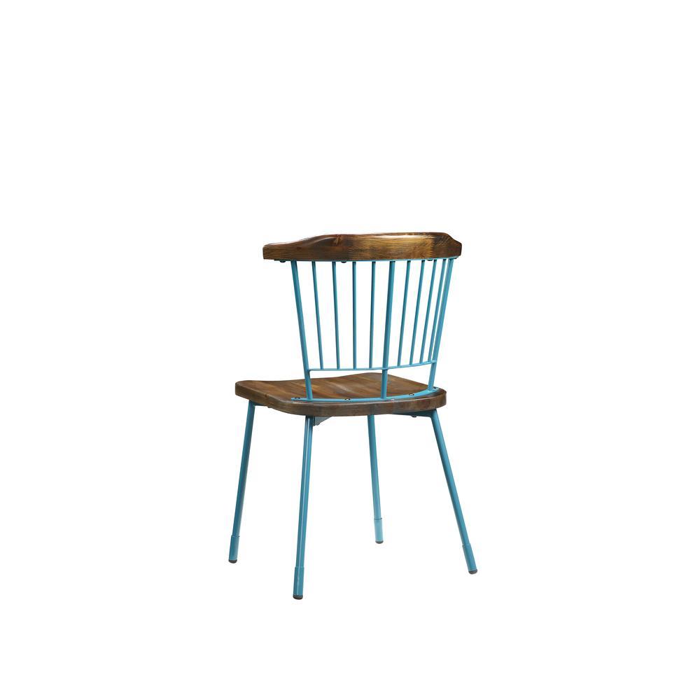 Orien Side Chair (Set-2), Teal & Brown Oak. Picture 18