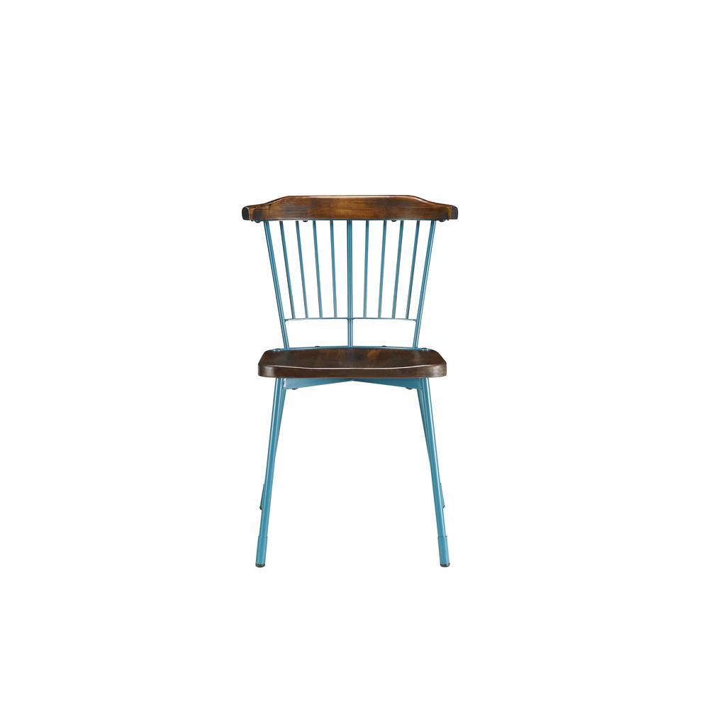 Orien Side Chair (Set-2), Teal & Brown Oak. Picture 19