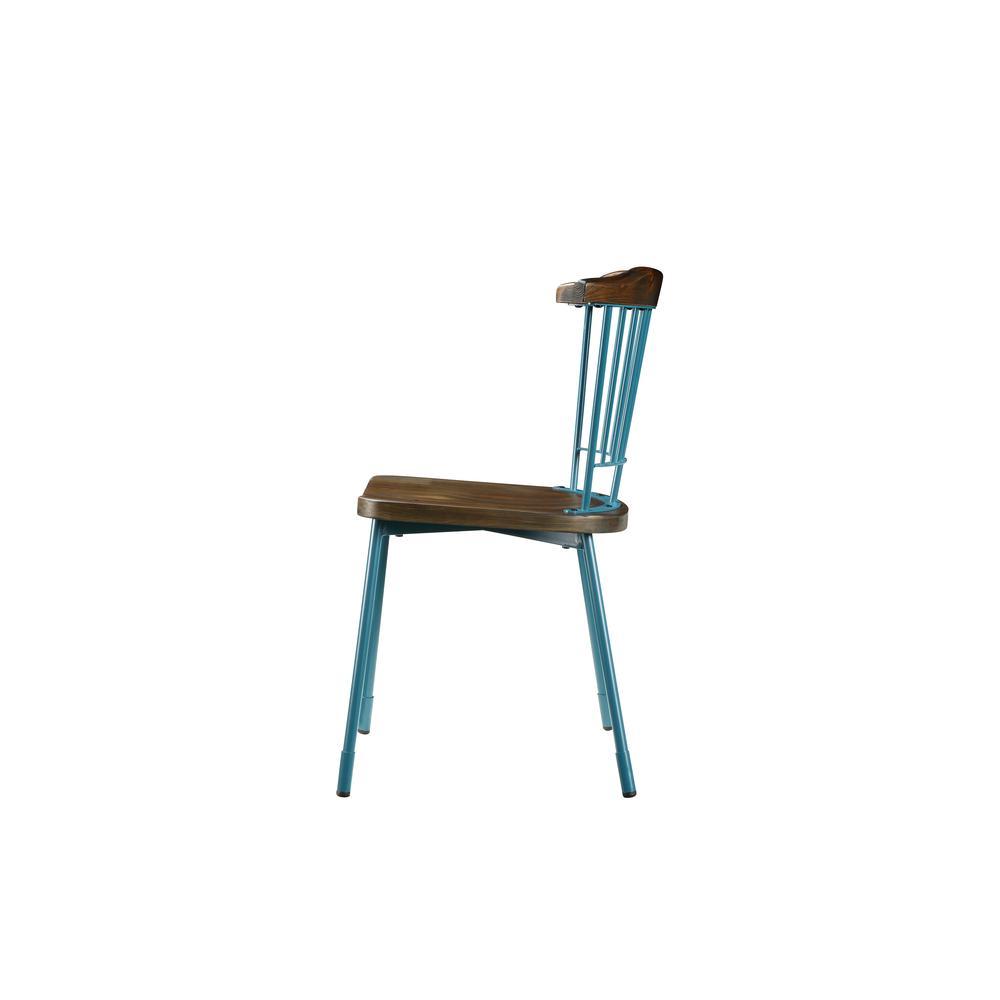 Orien Side Chair (Set-2), Teal & Brown Oak. Picture 20