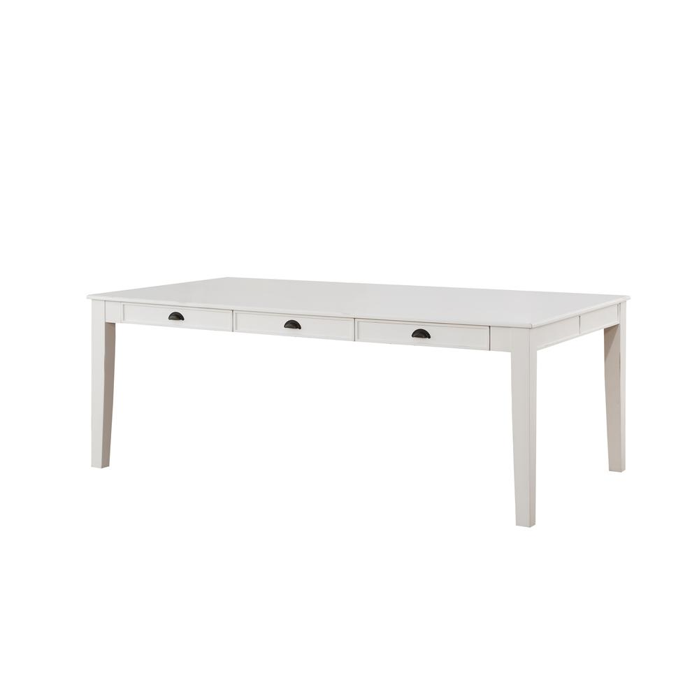 Renske Dining Table, Antique White. Picture 1