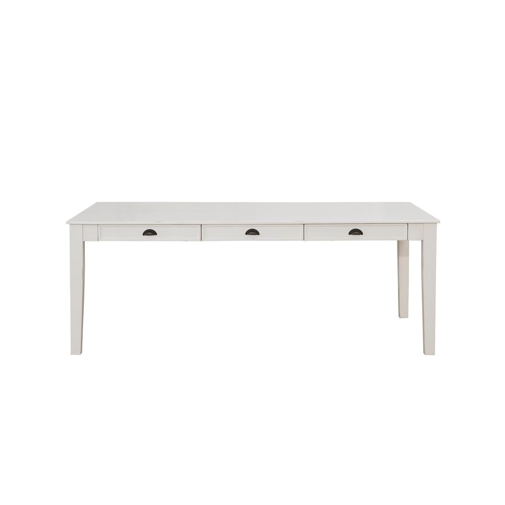 Renske Dining Table, Antique White. Picture 3