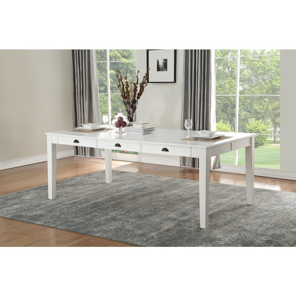 Renske Dining Table, Antique White. Picture 5