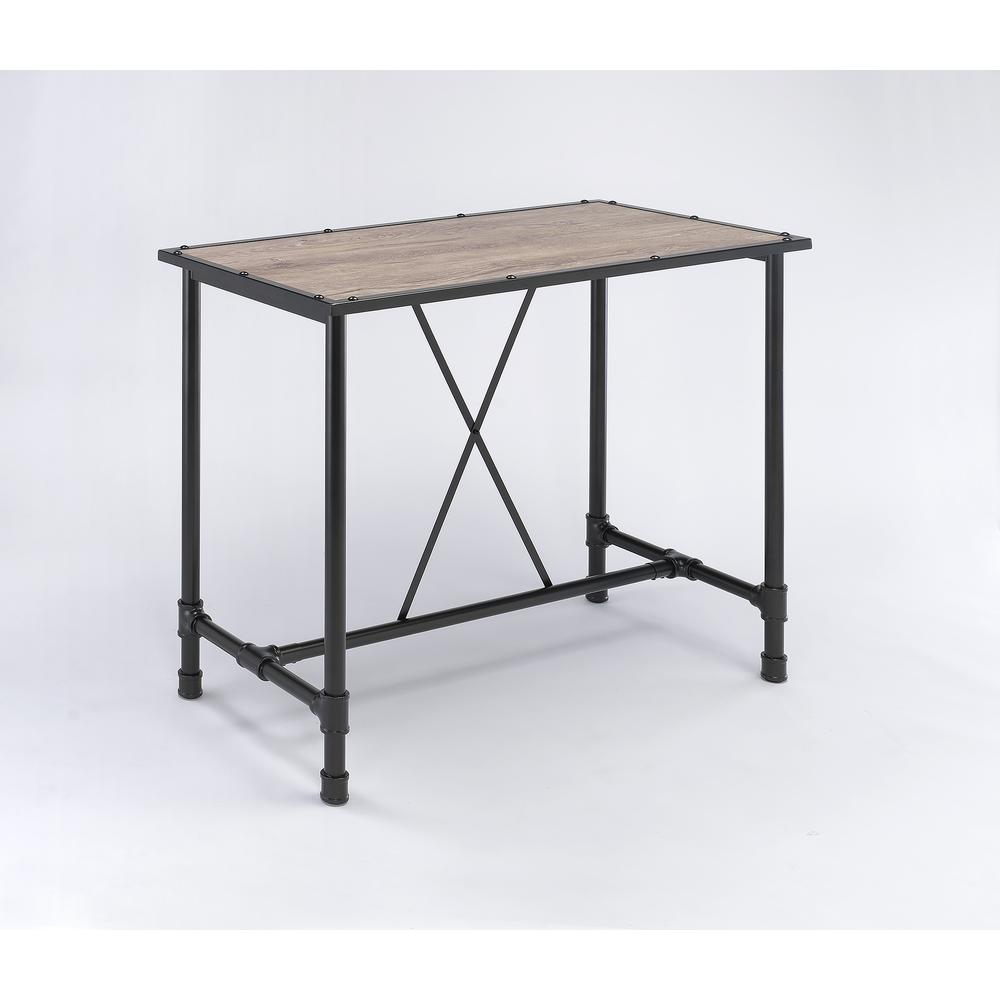 Caitlin Bar Table, Rustic Oak & Black. Picture 2