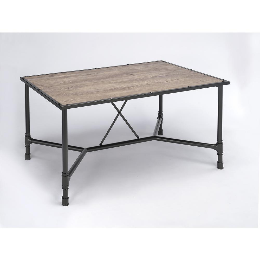 Caitlin Bar Table, Rustic Oak & Black. Picture 9