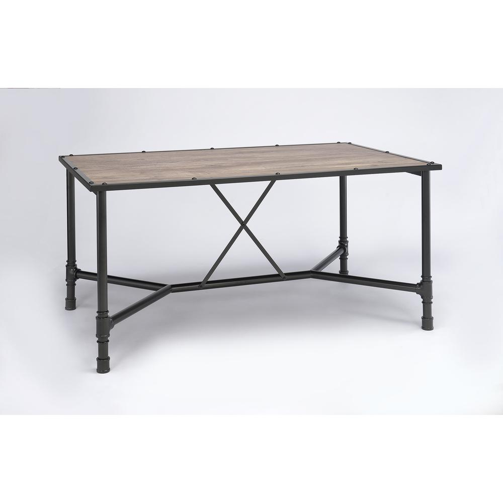 Caitlin Bar Table, Rustic Oak & Black. Picture 10