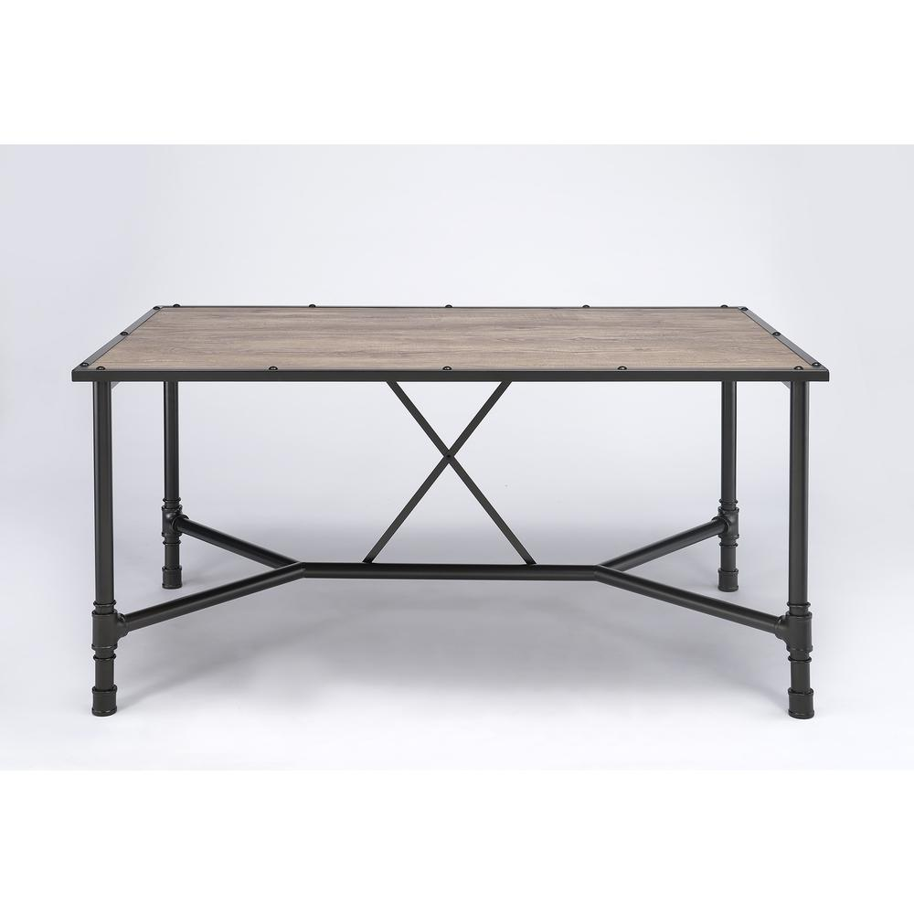 Caitlin Bar Table, Rustic Oak & Black. Picture 11